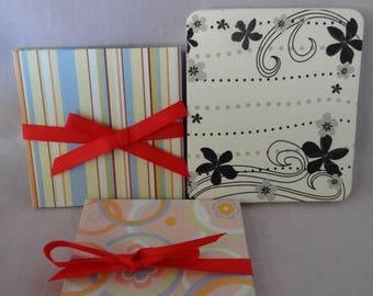 Craft Supplies - Set of Three Hardbound Mini Scrapbooks