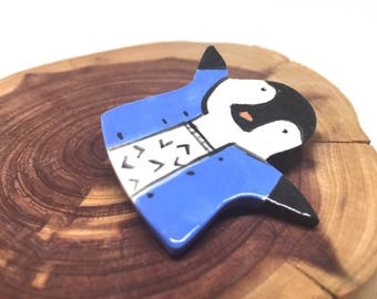 Penguins Brooch for Mom Gift Gift under 30 Cute Animal Brooches Women Animal Brooch Penguin Pin Animal Brooch Statement Jewelry