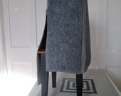 CUSTOM ORDER - Gray Fleece with Charcoal Carpet Set
