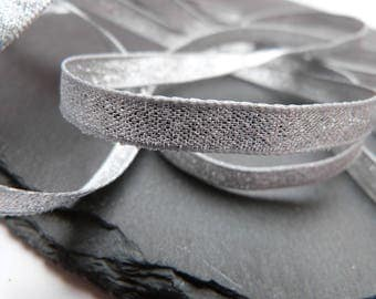 Silver Lame , Sparkly Double Sided Ribbon 7mm Wide Per Metre