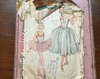 Vintage Simplicity pattern 4070 ballerina costume