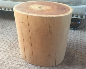 Cedar Stump Stool
