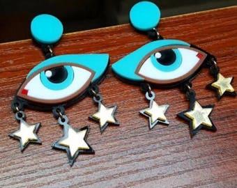 Vintage egyptian funky earrings