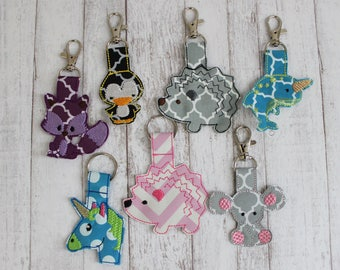 Adorable Zipper Pulls and Keychains - MANY Styles - Sports, Animals, Hobbies and More!