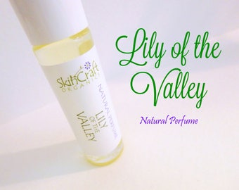 Natural Lily of the Valley Perfume Oil - Roll On Perfume - Organic Fragrance Oil Perfume -  Floral Perfume Oil - Gift for Women - .3 oz