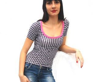 Pink leopardo rock jersey t-shirt