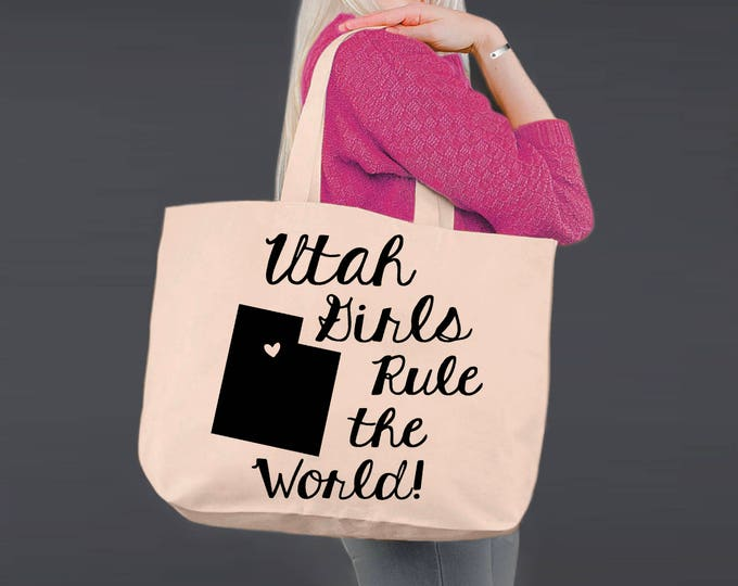 Utah | Bridesmaid Tote | Tote Bag | Canvas Tote Bag | Beach Tote | Canvas Tote | Shopping Tote | Shopping Bag | Korena Loves