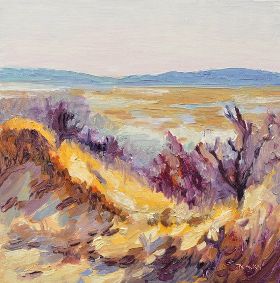 "Plum Island dunes,  Massachusetts, 10"" x 10"""