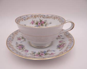 "Vintage Noritake ""Somerset"" Teacup and Saucer Set"