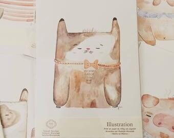 Izumi the taylor cat, art print, wall decor,  dorm home
