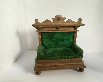 Antique Dollhouse German Settee ca 1900