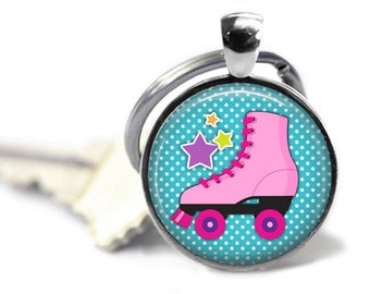 Skate key chain - Roller derby gift - Skater girl - Derby team gifts - Sports key chain - Skate theme party - Derby gifts - Skater gifts