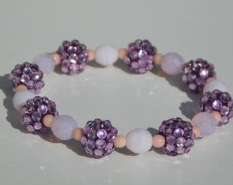 Lavender , Pink and Plum Bracelet