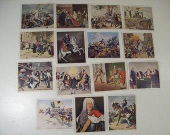 Lot of 15 Antique 1936 German Cigarette Tobacco Cards Bilder Deutscher, Sammelwerk