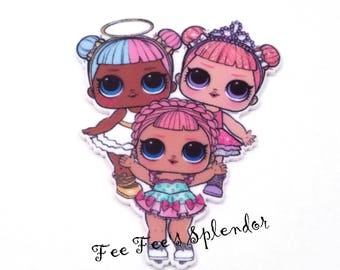 Lol Surprise Dolls- Planar resin cabochon- Resin Flatback- Hairbow Center- DIY headband supply