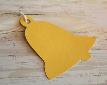 BLANK BELL Die Cut, Paper Tag, Gift Tag, Blank Tags, Crafts, Blanks