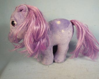Vintage-1984-Hasbro-My Little Pony-Large Stuffed  With A Light Lavender Mane