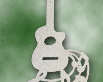 Ukulele Hanging Ornament Cut By Hand