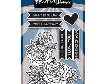 ON SALE Brutus Monroe Clear Stamp Set- Botanical Banners