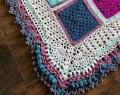POPULAR CROCHET patterns/crochet baby blanket/wedding gift/crochet blanket/crochet granny square/easy crochet pattern/easy blanket pattern