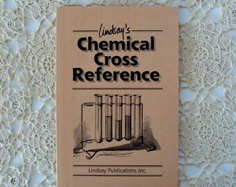 1989 Lindsay's Chemical Cross Reference / Paperback / Pamphlet / Vintage / Old Chemical Names / Educational Booklet
