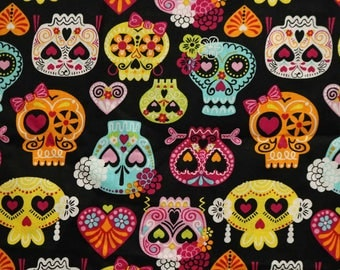 PRE-Order, Sugar Skulls, Knitting Bag, Crochet, Knit, Yarn, Wool, Yarn Storage, Yarn Bag with Hole, Grommet, Handle
