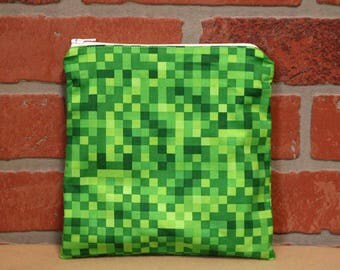 One Sandwich Bag, Reusable Lunch Bags, Waste-Free Lunch, Machine Washable, Minecraft, Sandwich Sacks, item #SS89