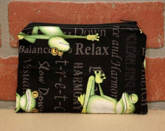 One Snack Sack, Yoga Frogs, Reusable Lunch Bags, Waste-Free Lunch, Machine Washable, Back to School, School Lunch, item #SS56