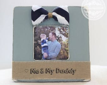 Dad Personalized Gift Fathers Day Picture Frame 'Me & My Daddy' Custom Gift from Son Daughter Children