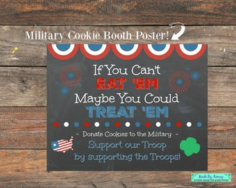 Military Girl Scout Cookie Booth Poster