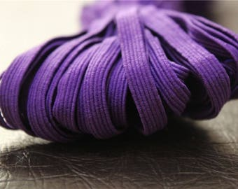 elastic Ribbon 5 meters flat purple color