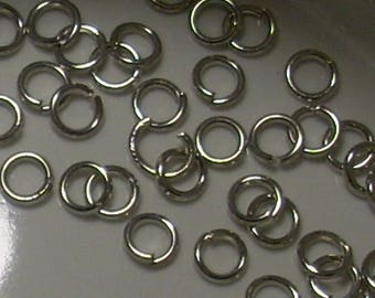 20 silver plated 3mm jump rings
