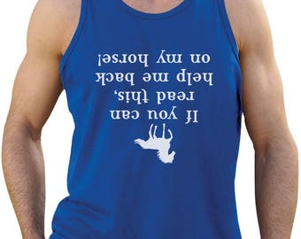 Help Me Back On My Horse Funny Gift Singlet