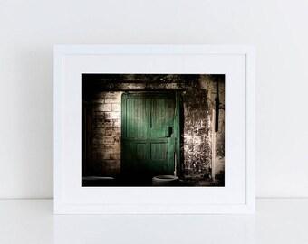 Green Barn Door - Urban Exploration - Fine Art Photography Print