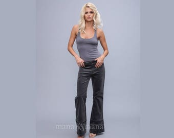 Bell bottom pants - Grey  Hippie pants