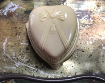 Vintage Art Deco Celluloid Ring Box Heart Shape