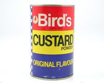 Vintage Birds Custard Tin