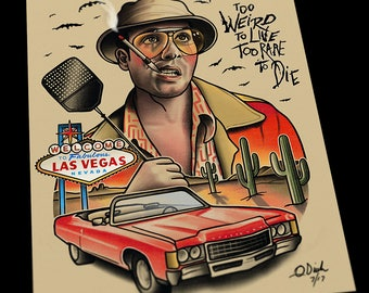Fear and Loathing in Las Vegas Tattoo Art Flash Print