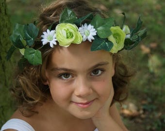 """Crown flower """"Celia"""" lime-white-green leaves and flowers"""