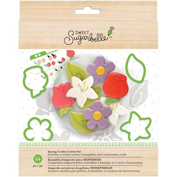 Sweet Sugarbelle Spring cookie cutters make flowers, leafs, rose, lily, iris, and so more