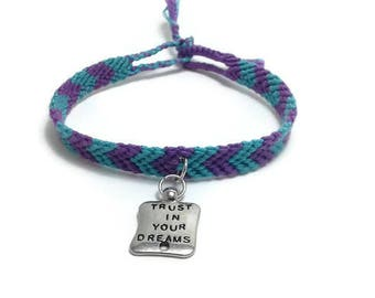 Liv4Friendship friendship bracelet, arrow friendship, Trust In Your Dreams, sliver charm friendship, chevron friendship, inspirational