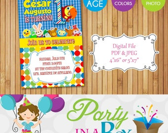 Baby First TV Invitation DIY Printable Digital File