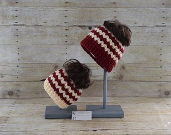 Mommy and Me Messy Bun Hat - Ponytail Hat - Messy Bun Beanie - Mom Bun Hat -  Child Messy Bun Hat - Bun Beanie - Mom and Daughter Hats
