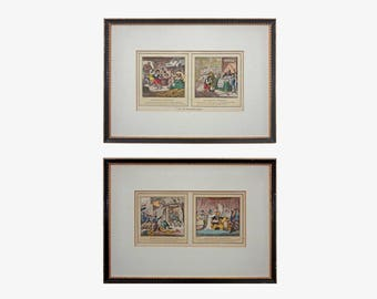 Napoleonic Satire after Gillray Colored Etchings John Miller Edition - 19th Century, Great Britain