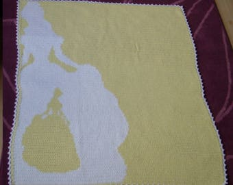 Belle Silhoutte Baby Throw