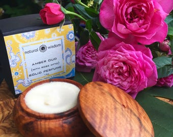 Amber Oud with Rose..  Attar Solid Perfume 15g