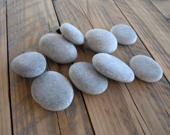 "9 Medium Flat Stones 2.3""x2.1"",Beach Stones,Sea Stones,Flat Shaped Stones,Zen Stones,Mandala Stones,Stones For Painting,Crafting Stones,RTS"