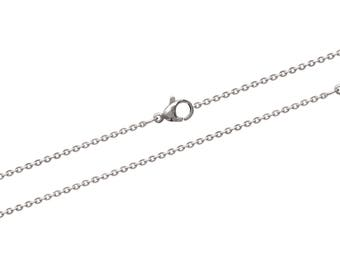 Steel carabiner width 1.50 mm chain necklace chain