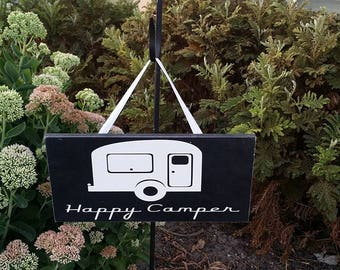 Happy Camper, RV decor, Camper Decor, Wood Sign