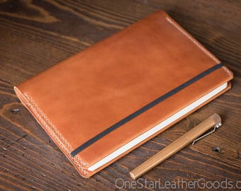 Leuchtturm 1917 Medium (A5) Hardcover Notebook cover, harness leather - chestnut